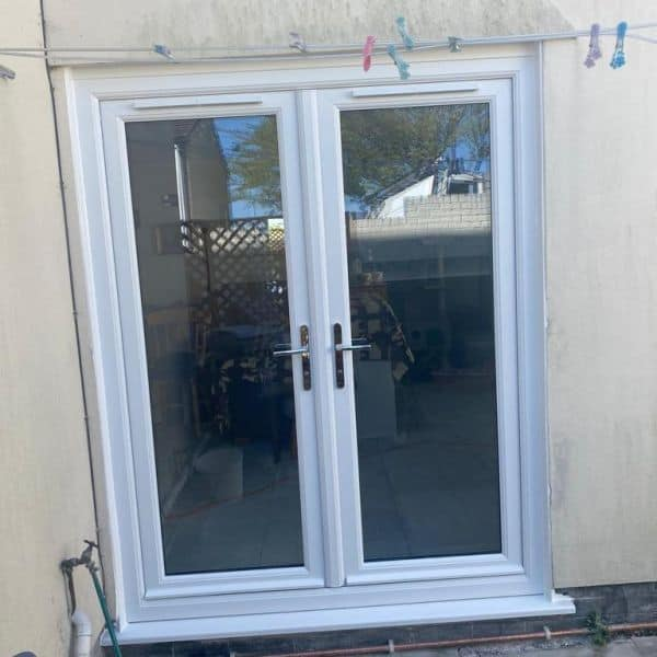 Window to french door conversion Cardiff COMPLETED outside