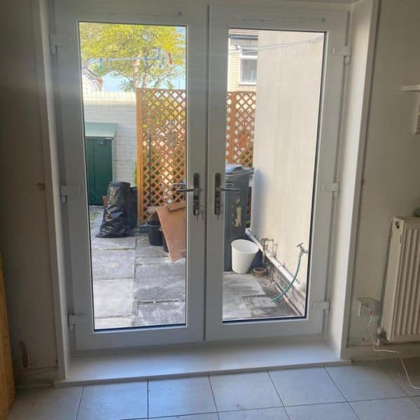 Window to french door conversion Cardiff COMPLETED inside
