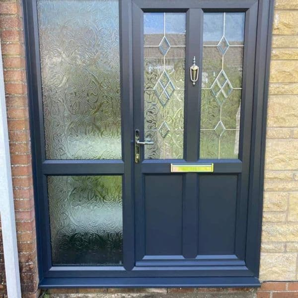 modern front door with side panel Cardiff